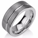 Black Gunmetal Tungsten Ring Wedding Band Ring Tungsten 9mm Tungsten Ring Man Wedding Band Male Women Stripe
