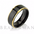 Black Tungsten Ring Yellow Gold Wedding Band Ring Tungsten Carbide 8mm 14K Tungsten Ring Man Wedding Band Male Women High Polished Shiny