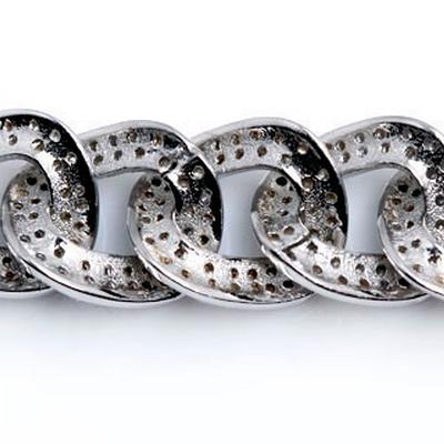 Mens Bracelets - Sterling Silver 925 Bracelet with cz stone possible length - 16.5, 17.8 19 20.3 or 21.6cm