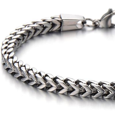 Mens Bracelets - Braided titanium bracelet 4.5cm wide and 22cm long