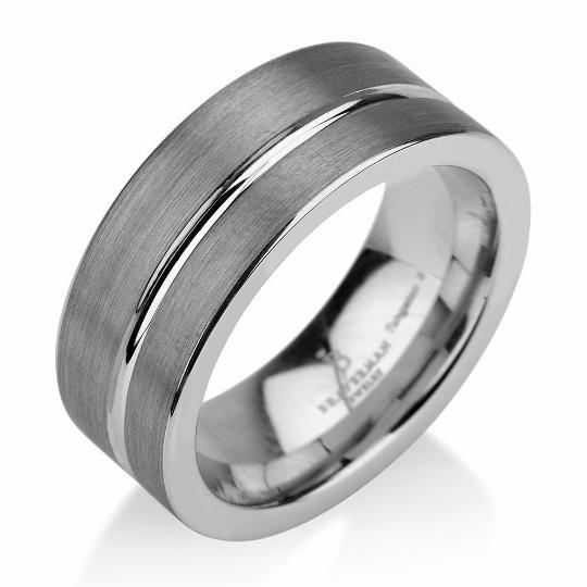 Black Gunmetal Tungsten Ring Wedding Band Ring Tun