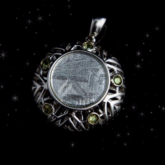 Meteorite Necklace 'Flower of Life' - Meteorite Je