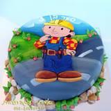 עוגת בוב הבנאי מצויירת לסער בן ה-3