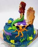 עוגת בת הים - מבט מהצד