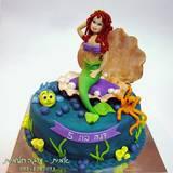 עוגת בת הים הקטנה - בתוך צדפה...