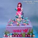 עוגת פיה ורודה על פטריה כחולה...