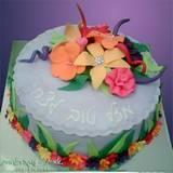 עוגת פרחים לצחי