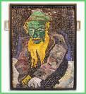 """Mosaic """"Chagall"""" Jew in Green"""