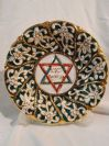 Italian Capodimonte Jewish Wall Plate
