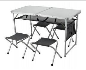 שולחן גורמה מתקפל עם 4 כסאות