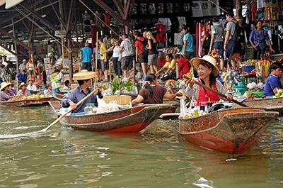 השוק הצף | Damnoen Saduak