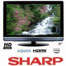 """טלוויזיה 32"""" LCD מסך רחב SHARP LC32L400M"""