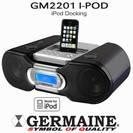 תחנת עגינה מתקדמת ואיכותית I-POD/I-PHONE + רדיו שעון מעורר GERMAINE