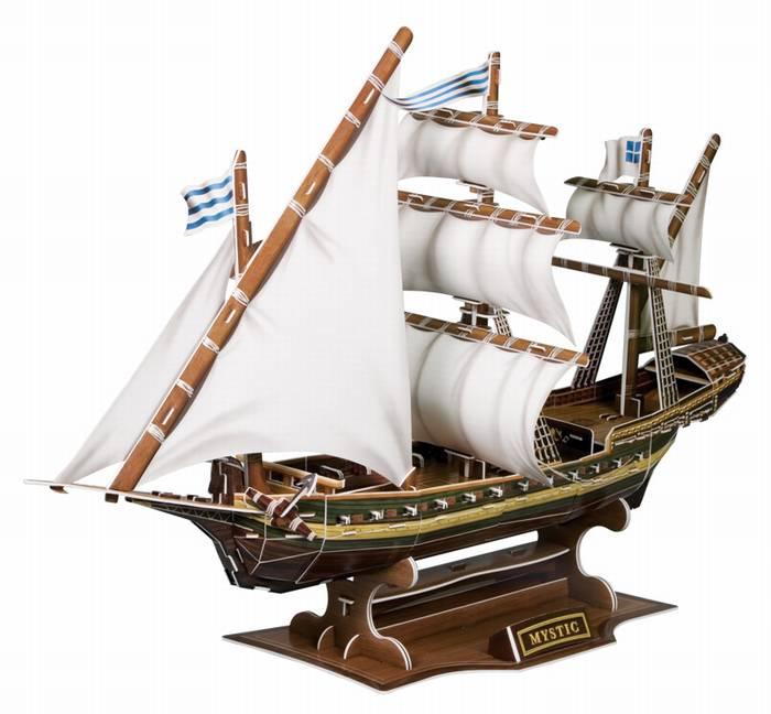 פאזל תלת מימד -מיסטיק - אונייה צרפתית להפלגה