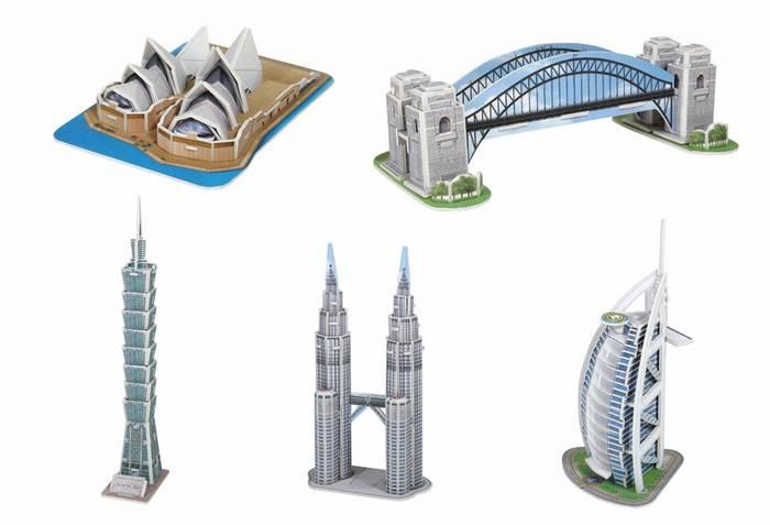 פאזל תלת מימד -מיני ארכיטקטורות  - סידרה 3
