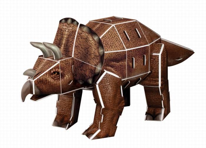 פאזל תלת מימד -דינוזאור - טריזראטופס