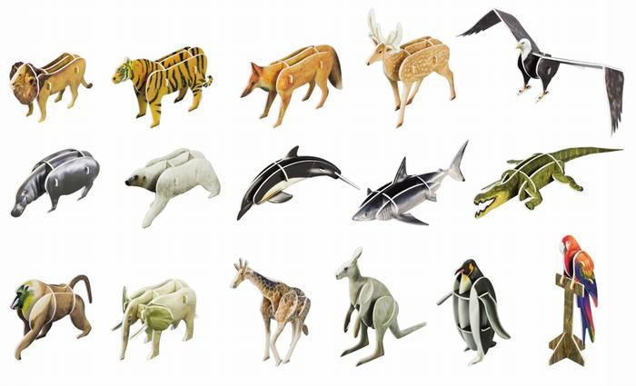 פאזל תלת מימד -ממלכת החיות מספרי הילדים