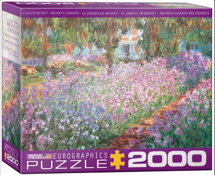 פאזל 2000 חלקים - ציור של מונה - מונה גארדן