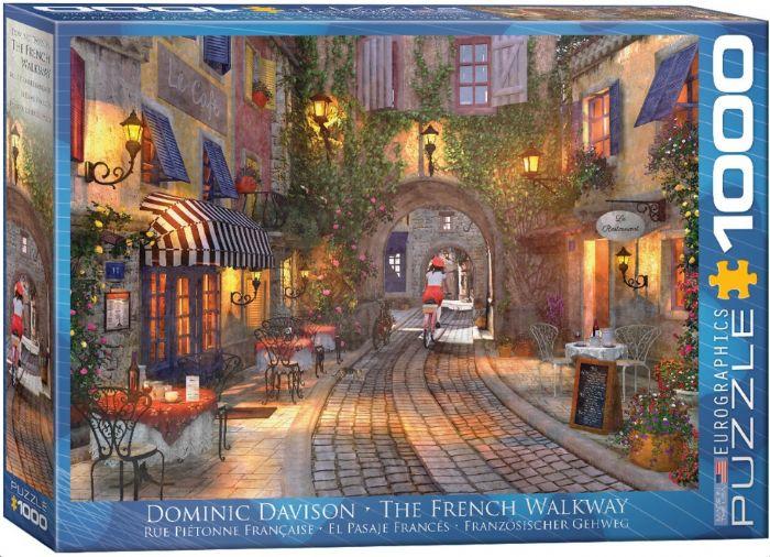 פאזל 1000 חלקים - מדרחוב בצרפת