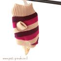 סוודר גולף פסים לכלב  - XS בצבעים שונים