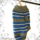 סוודר גולף פסים מידה XL