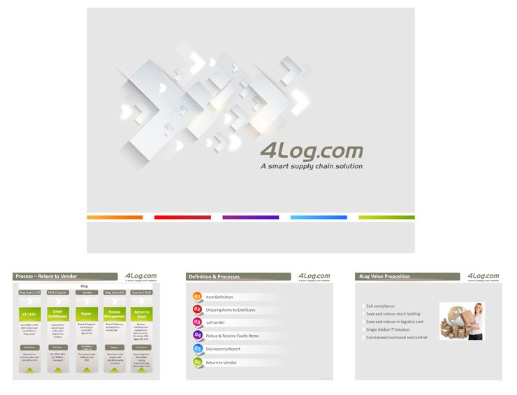 עיצוב מצגת עיסקית -  4LOG