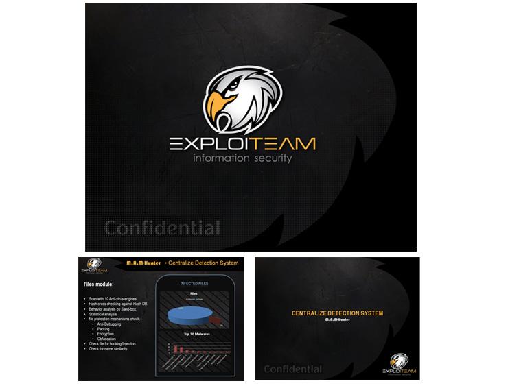 עיצוב מצגת עיסקית בתחום אבטחת מידע - EXPLOITEAM