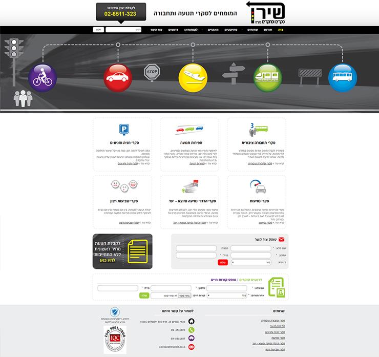 עיצוב ובניית אתר שירן סקרים ומחקרים