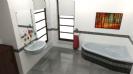 אמבטיה חצי פינתית
