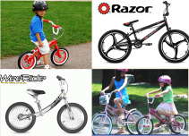 אופני ילדים ואופני דחיפה