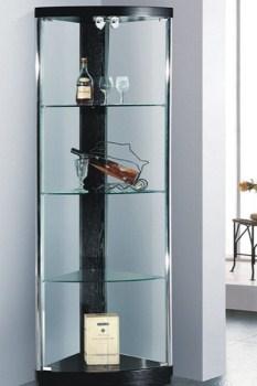 ויטרינה זכוכית פינתית - 612 שחור