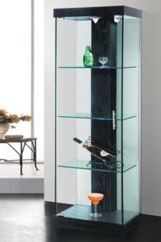 ויטרינה זכוכית מעוצבת - 302 שחור