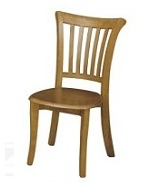 כסא לפינת אוכל מעץ מלא דגם C-339 מושב קשה