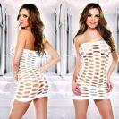 שמלת מיני קרעים לבנה