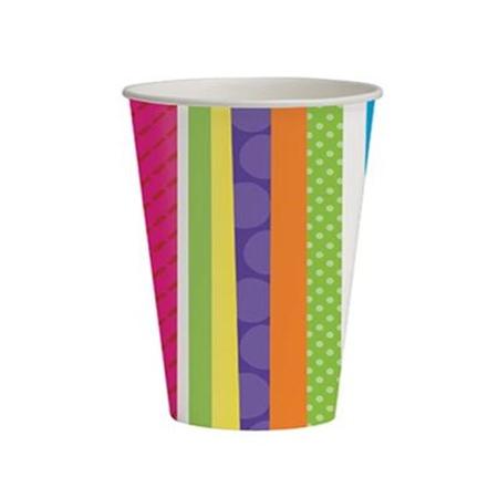 כוסות פסים ונקודות