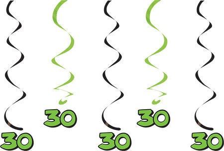 קישוטי תלייה ירוקים - גיל 30