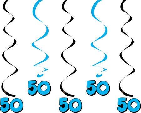 קישוטי תלייה כחולים - גיל 50