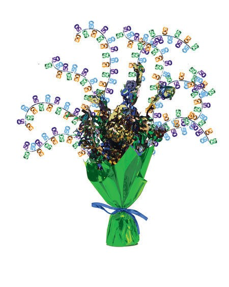 מרכז שולחן זר פרחים - גיל 50