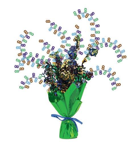 מרכז שולחן זר פרחים - גיל 60
