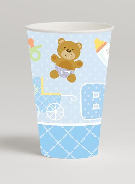 כוסות דובון כחול