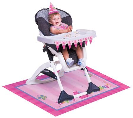ערכת קישוט לכיסא גבוה Fun at One בנות