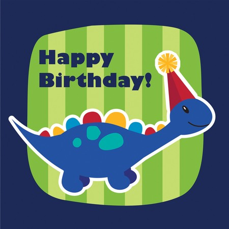 מפיות דינוזאור קטן יומולדת שמח