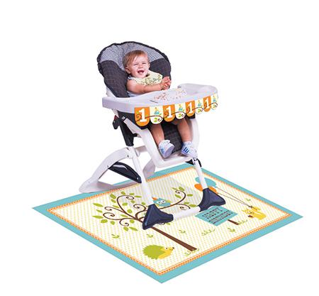 קישוט לכסא גבוה מסיבה ביער בנים