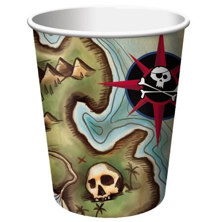 כוסות מפת הפיראטים