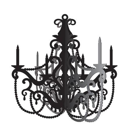שנדליר שחור מעוצב