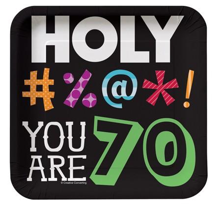 צלחות קטנות Holy Bleep - גיל 70