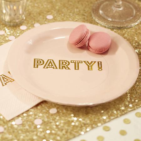 צלחות Pink & Gold