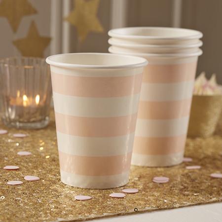 כוסות Pink & Gold