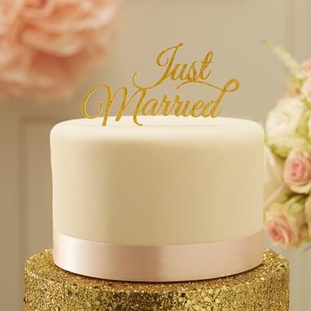 קישוט לעוגה Just Married