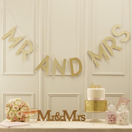 שרשרת זהב Mr & Mrs